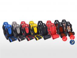 FK Sportsitze Auto Halbschalensitze Set Racecar in Motorsport-Optik Stoff [verschiedene Farben]