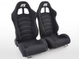 FK spor koltuklar Otomatik yarım kabuk koltuklar Seattle'ı motor sporları görünümünde ayarlayın siyah kumaş