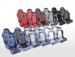 FK Sportsitze Auto Halbschalensitze Set Spacelook Carbon in Motorsport-Optik [verschiedene Farben]