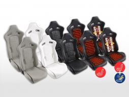 Set scaune sport FK set de scaune cu jumătate de carcasă din piele sintetică 2 [culori diferite]