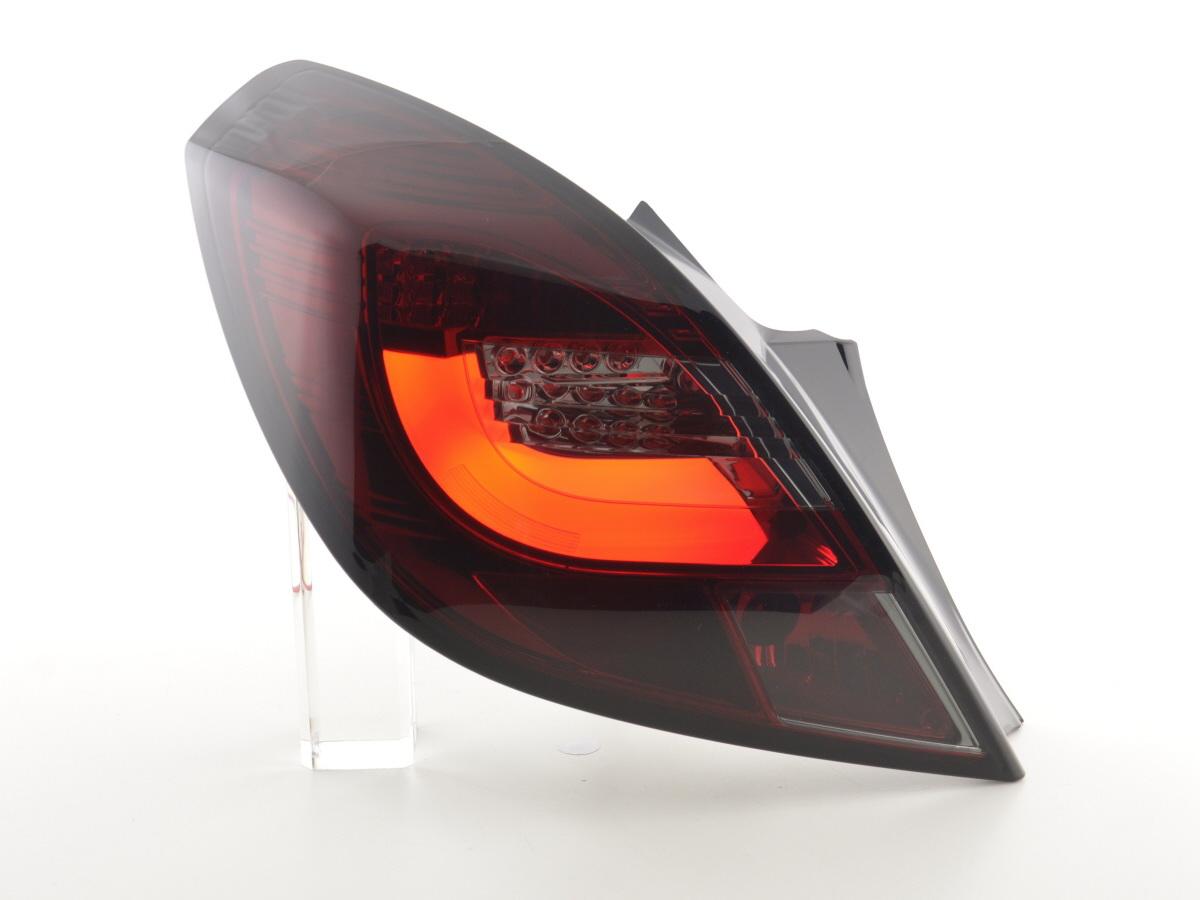 led r ckleuchten opel corsa d 3 trg bj 06 10 rot schwarz online kaufen. Black Bedroom Furniture Sets. Home Design Ideas