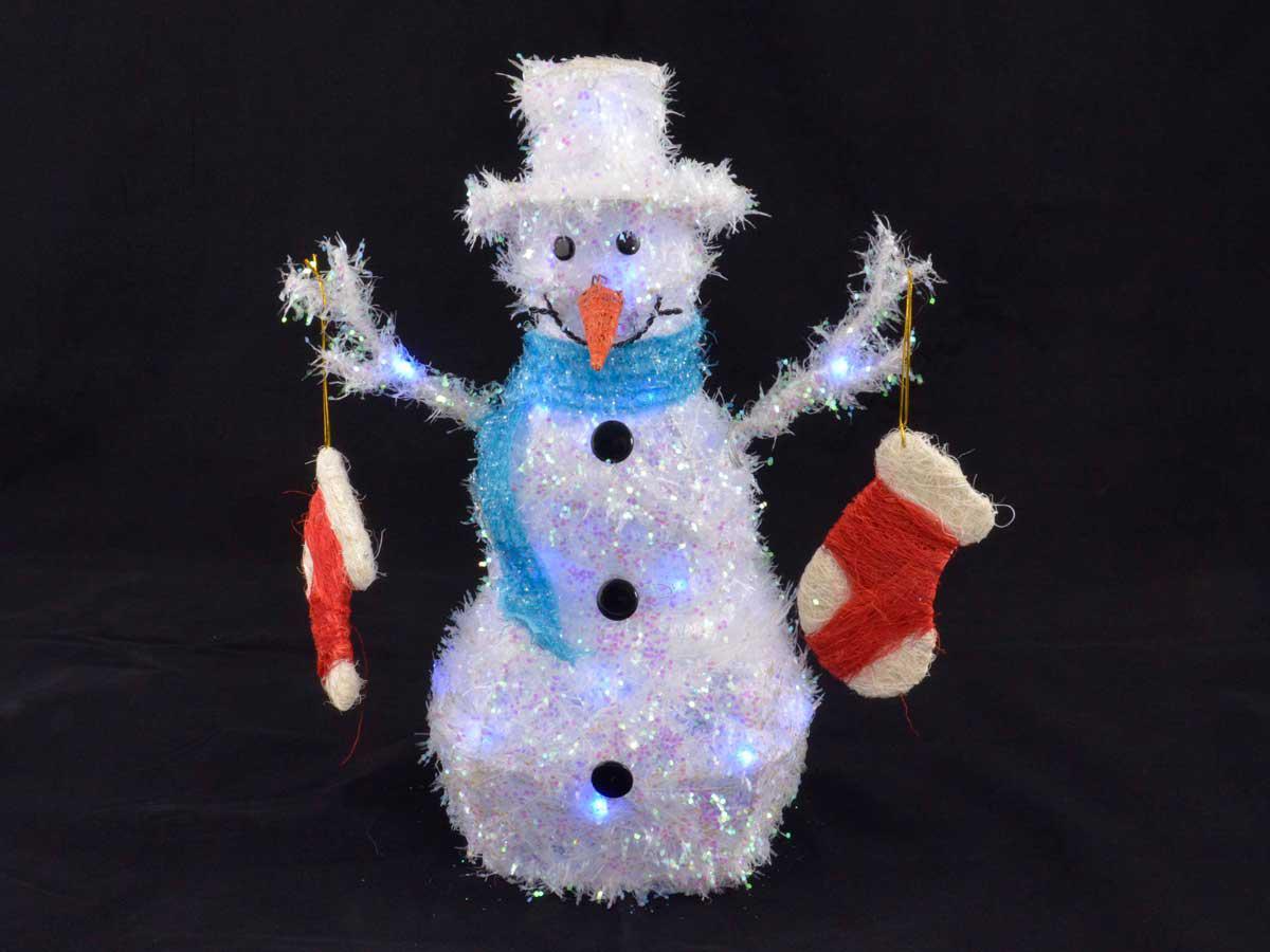 Blaue Weihnachtsbeleuchtung.Bremsscheibe De Weihnachtsbeleuchtung Schneemann Mit Socken Blau