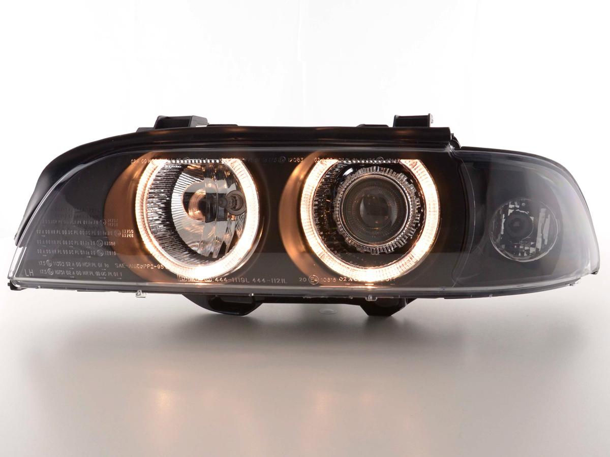 scheinwerfer set angel eyes bmw 5er typ. Black Bedroom Furniture Sets. Home Design Ideas