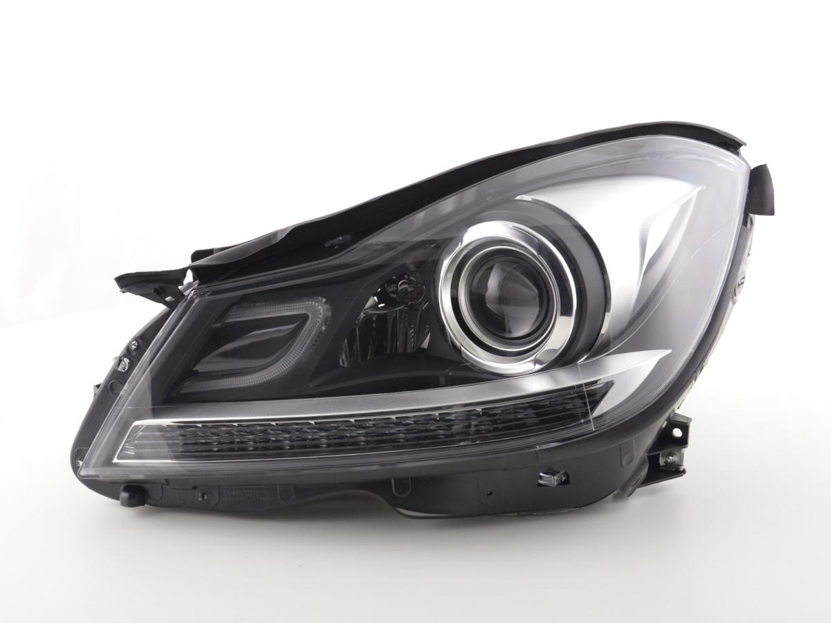scheinwerfer daylight mercedes c klasse 204 bj 2011 2014 schwarz online. Black Bedroom Furniture Sets. Home Design Ideas