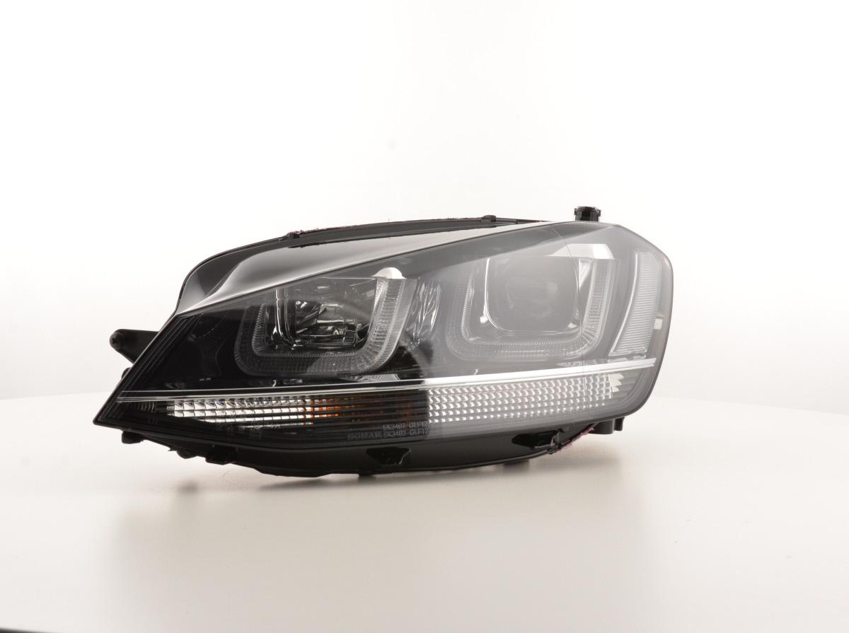 tagfahrlicht scheinwerfer daylight vw golf 7 bj ab 2012 schwarz chrom. Black Bedroom Furniture Sets. Home Design Ideas